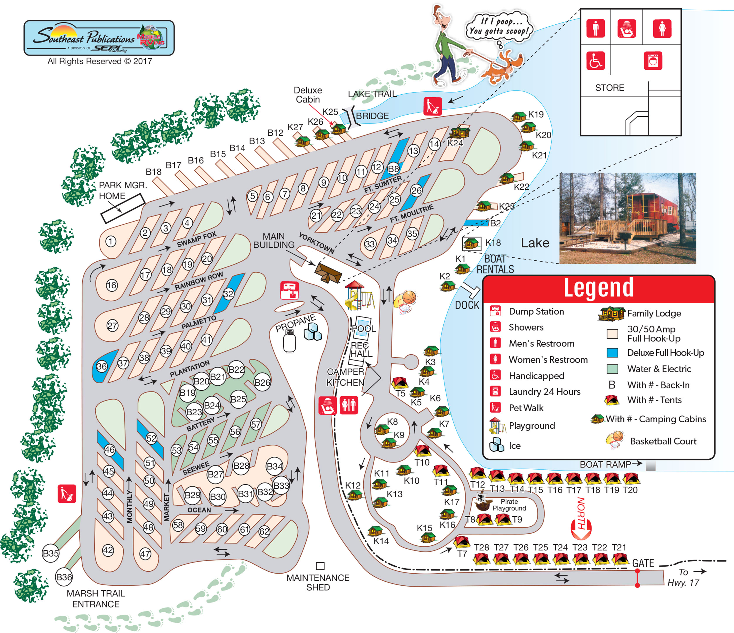 Experience Sitemap: Mt. Pleasant, South Carolina Campground